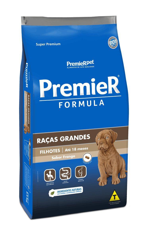 Ração Premier Formula Cães Filhotes Raças Grandes Frango 15Kg