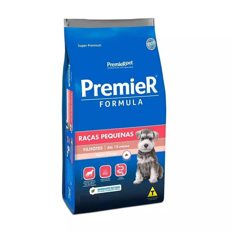 Ração Premier Formula Cães Filhotes Raças Pequenas Frango