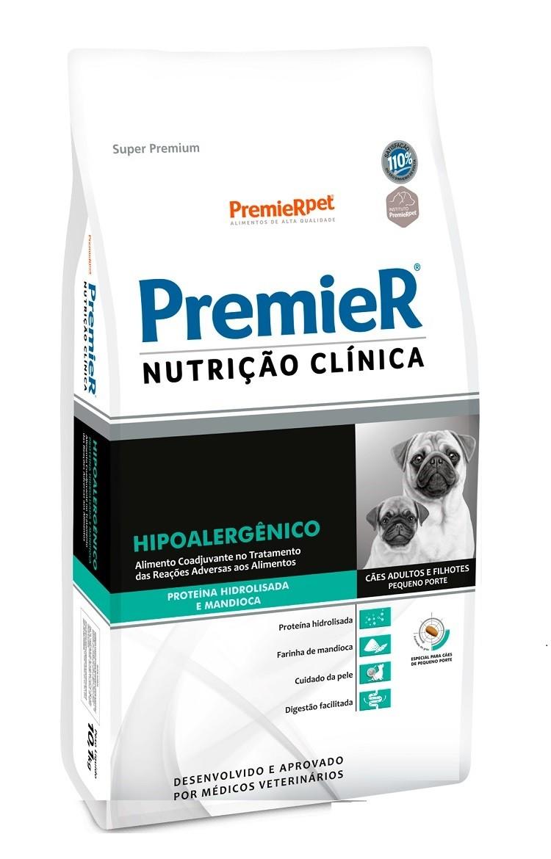 Ração Premier Nutrição Clinica Hipoalergênico Cães Adultos e Filhotes c/ Proteína Hidrolisada e Mandioca