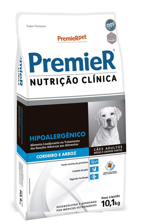 Ração Premier Nutrição Clinica Hipoalergênico Cães Adultos Raças Grandes 10kg