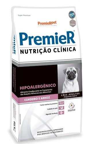 Ração Premier Nutrição Clinica Hipoalergênico Cães Adultos Raças Pequenas Cordeiro e Arroz