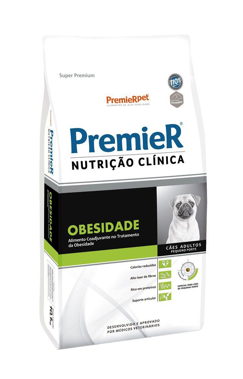 Ração Premier Nutrição Clinica Obesidade Cães Adultos Raças Pequenas