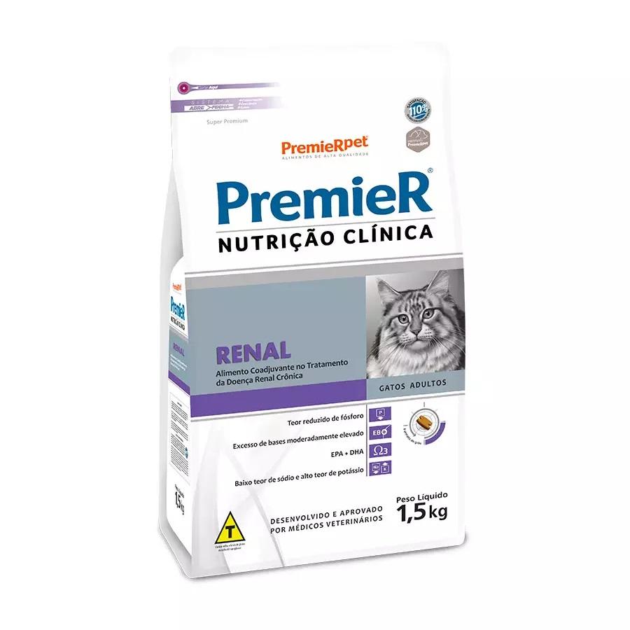 Ração Premier Nutrição Clinica Renal Para Gatos Adultos 1,5Kg