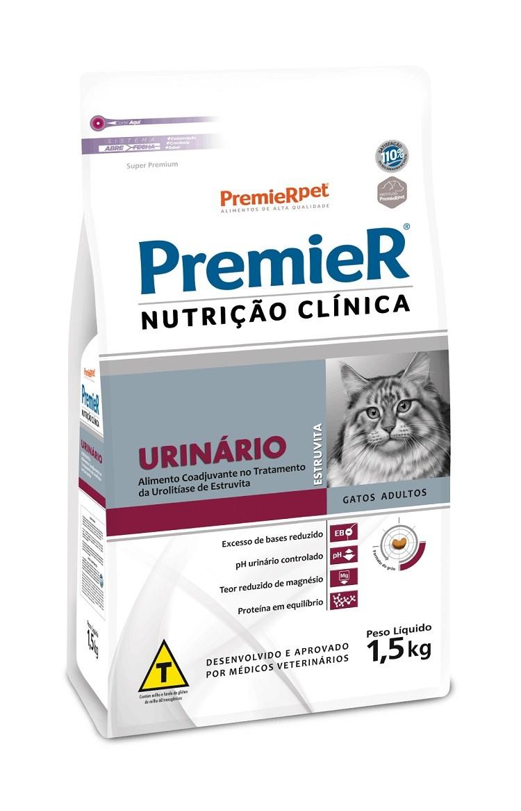 Ração Premier Nutrição Clínica Urinário Estruvita para Gatos Adultos