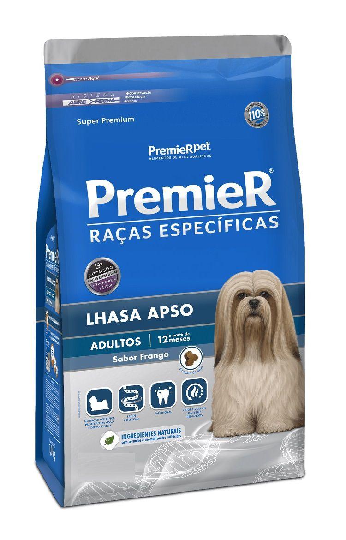 Ração Premier Raças Específicas Lhasa Apso Cães Adultos Frango