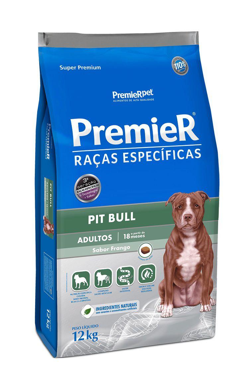 Ração Premier Raças Específicas Pit Bull Cães Adultos Frango