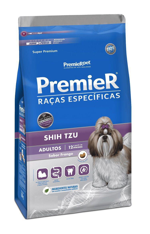 Ração Premier Raças Especificas Shih Tzu Cães Adultos Frango