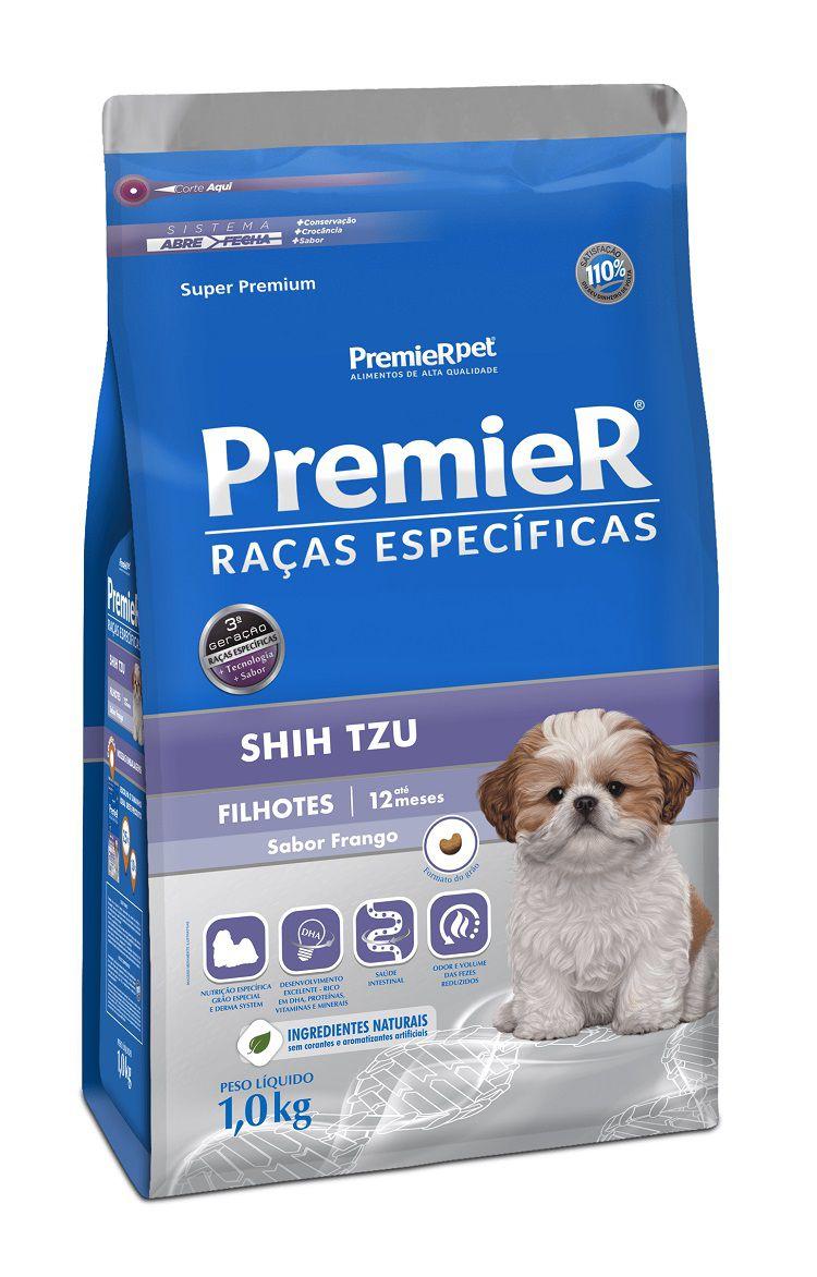 Ração Premier Pet Raças Especificas Shih Tzu Cães Filhotes Frango