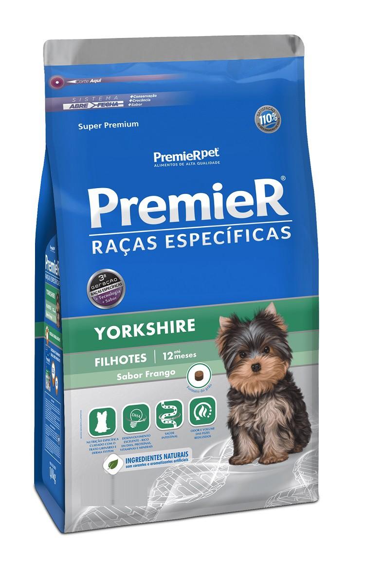 Ração Premier Raças Especificas Yorkshire Cães Filhotes Frango 2,5Kg
