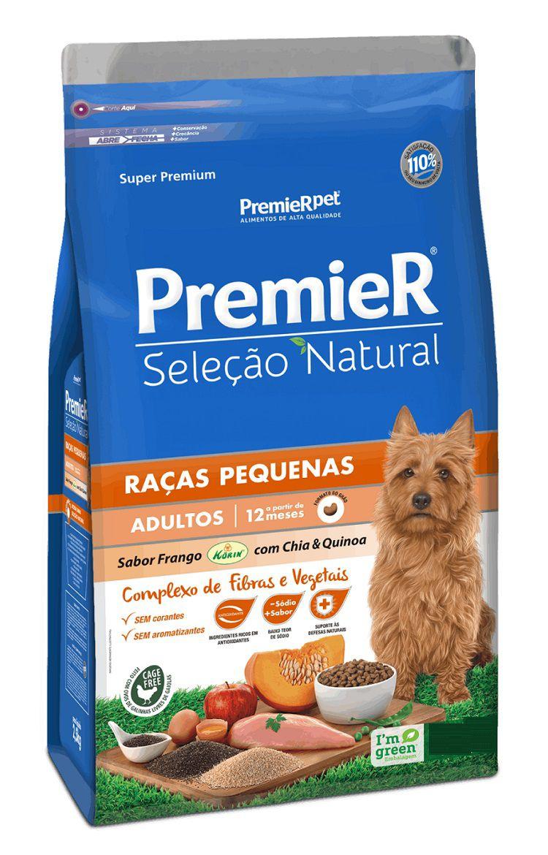 Ração Premier Seleção Natural Cães Filhotes Raças Pequenas
