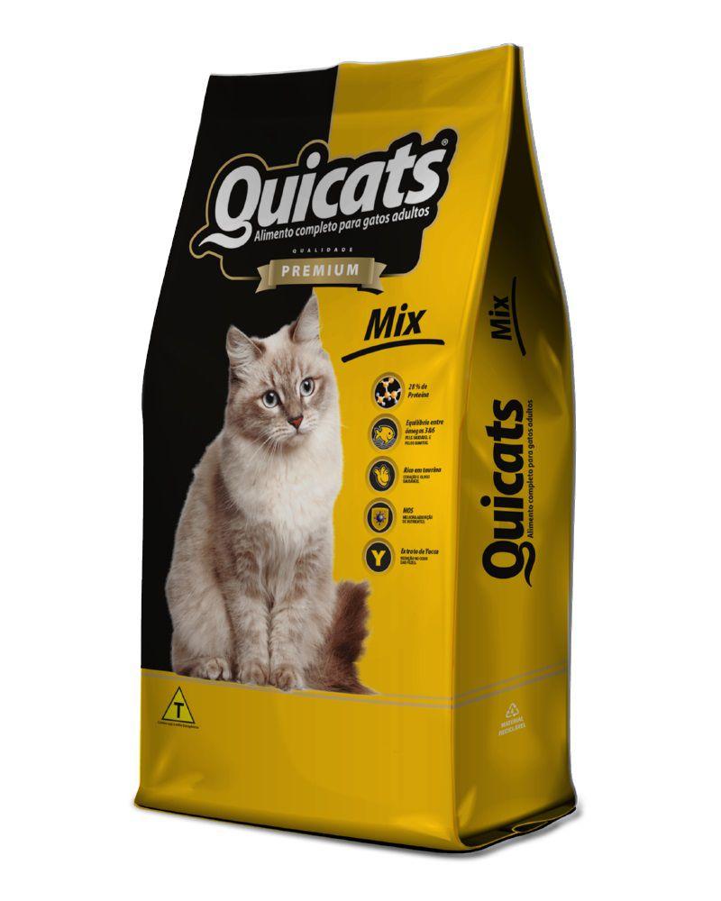 Ração Quicats Premium Mix Gatos Adultos