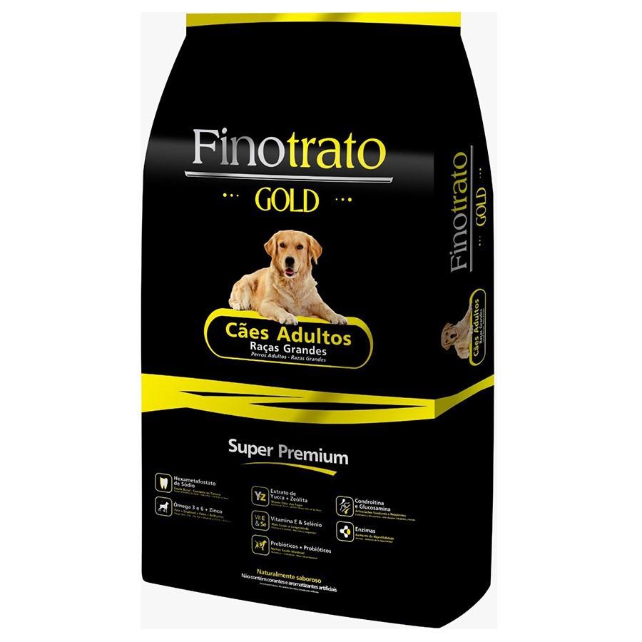 Ração Finotrato Gold Super Premium Cães Adultos Raças Grandes e Gigantes 15kg