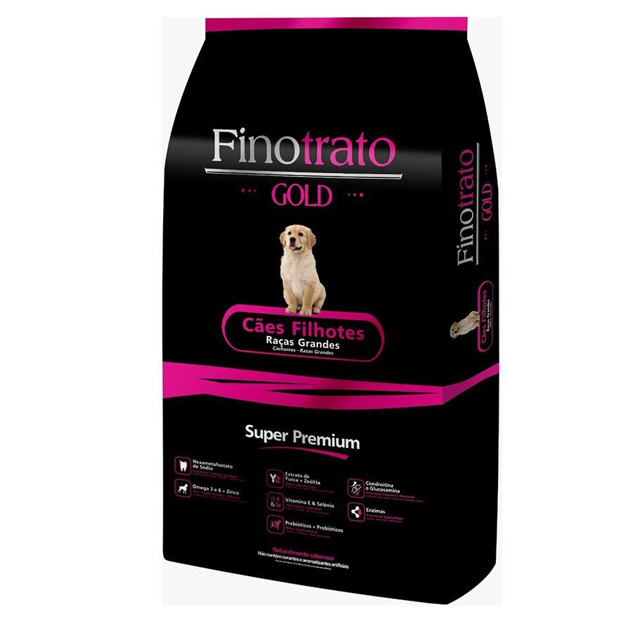 Ração Seca Finotrato Gold Super Premium para Cães Filhotes Raças Grandes 15kg