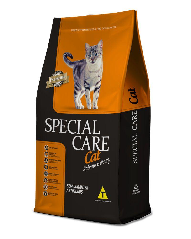 Ração Special Care Cat Premium Gatos Adultos Salmão e Arroz