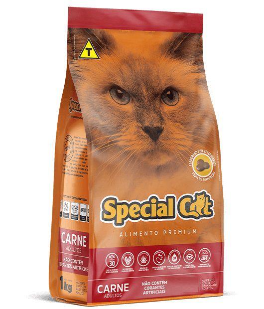 Ração Special Cat Premium Gatos Adultos Carne