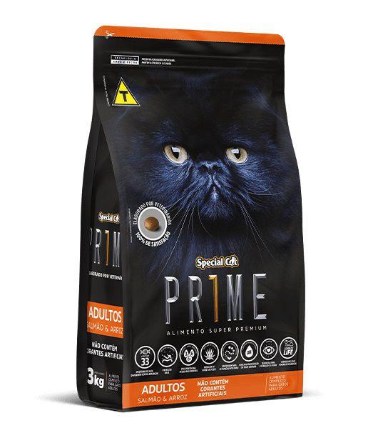 Ração Special Cat Super Premium Prime Gatos Adultos Salmão e Arroz 10Kg