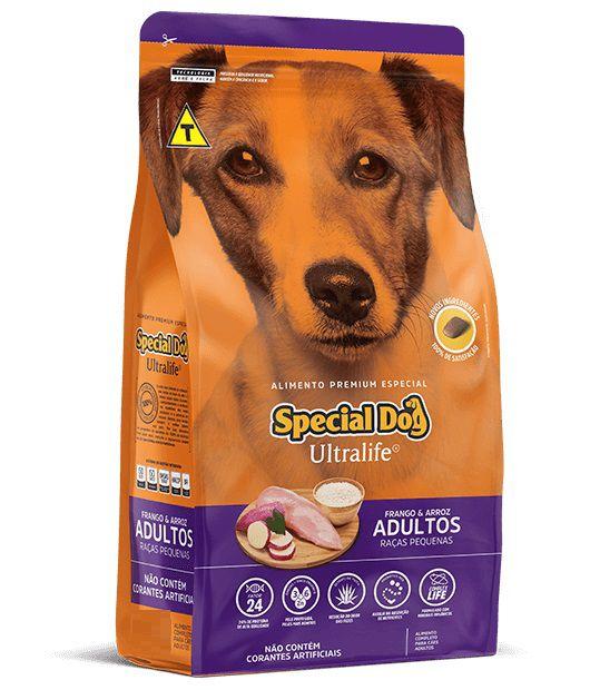 Ração Special Dog Premium Especial Ultralife Cães Adultos Raças Pequenas Frango e Arroz