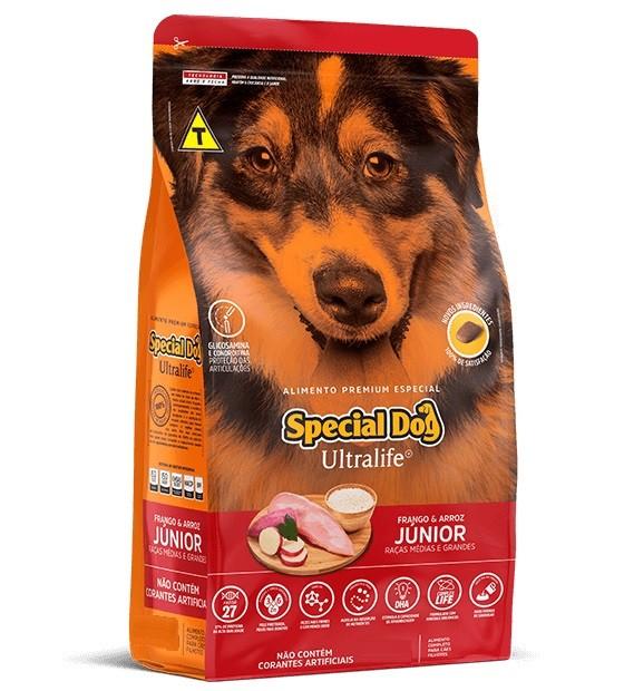 Ração Special Dog Premium Especial Ultralife Cães Filhotes Raças Médias e Grandes 15kg
