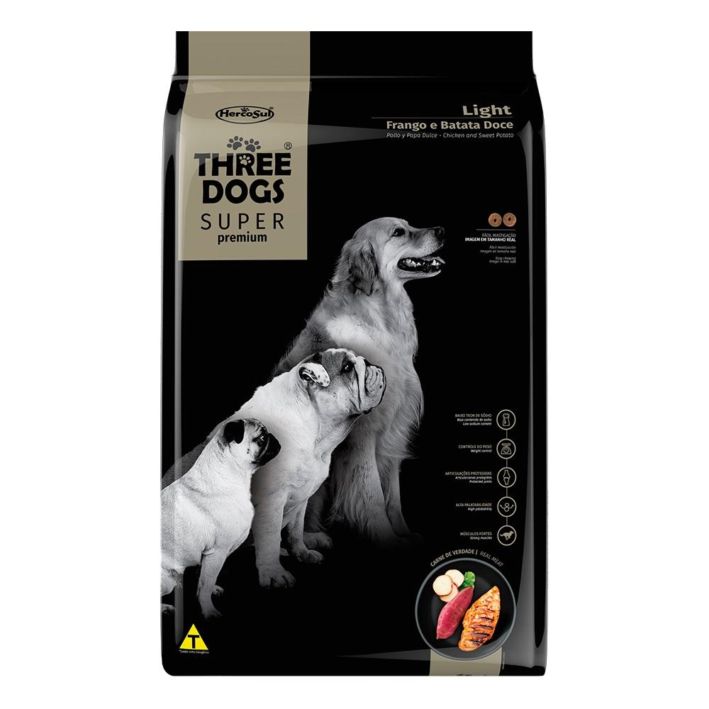 Ração Three Dogs Super Premium Light Todas as Raças Frango e Batata Doce