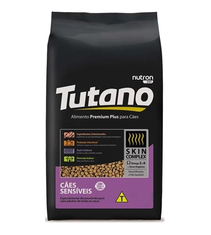 Ração Tutano Premium Sensitive Cães Adultos com Pele Sensíveis  Sabor Salmão 15kg