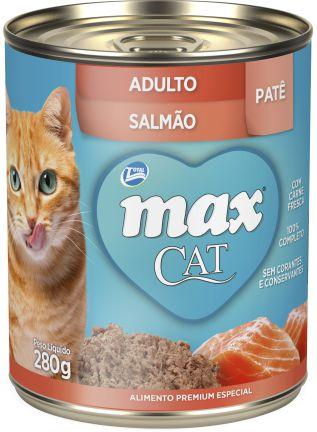 Ração Umida Max Cat Lata para Gatos Adultos sabor Salmão