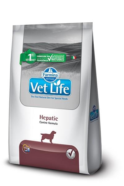 Ração Vet Life Natural Hepatic para Cães Adultos 2kg