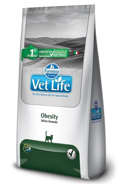 Ração Vet Life Natural Obesidade para Gatos Adultos 2kg