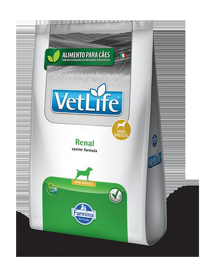 Ração Vet Life Natural Renal para Cães Adultos Raças Pequenas 2kg