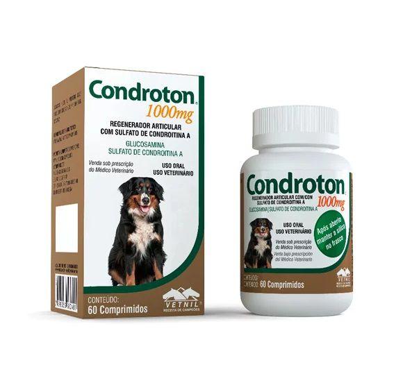 Regenerador Articular Para Cães Condroton 60 Compr