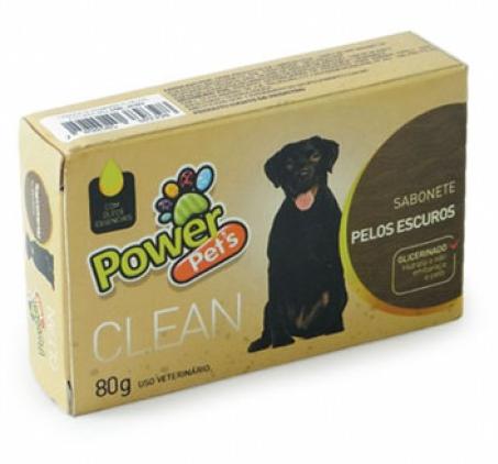 Sabonete Power Pets Pelos Escuros 80gr