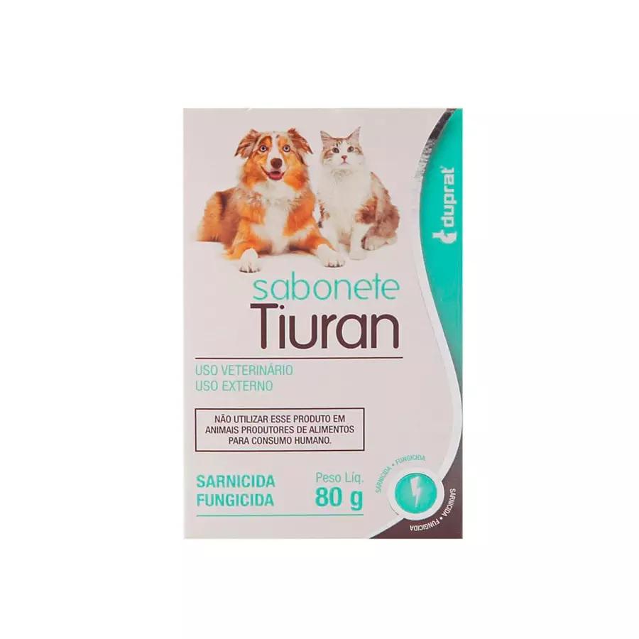 Sabonete Tiuran Sarna e Fungos para Cães e Gatos 80g