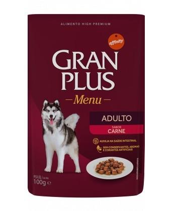 Sachê de Ração Úmida GranPlus Cães Adultos Sabor Carne 100g