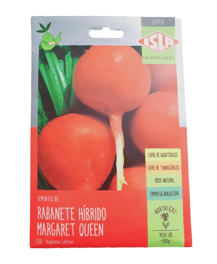 Semente Isla Rabanete Híbrido Margaret Queen 4g