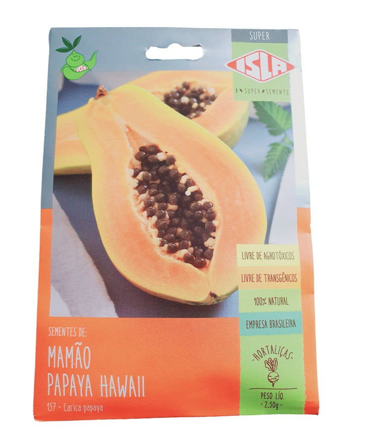 Sementes Isla Mamão Papaya Hawaii 5g