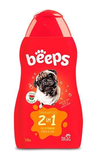 Shampoo 2 em 1 Beeps para Cães e Gatos 500ml