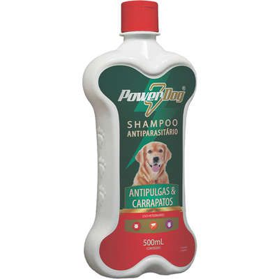 Shampoo Antiparasitário Power Dog Antipulgas e Carrapatos para Cães 500ml