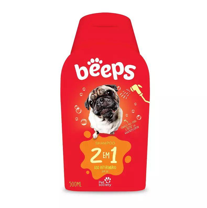 Shampoo Beeps 2 em 1 para Cães e Gatos - 500ml