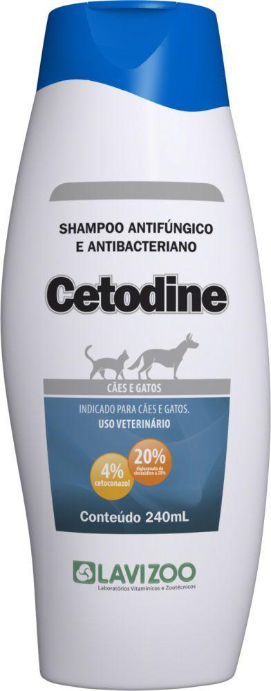 Shampoo Cetodine 240ml Cães e Gatos