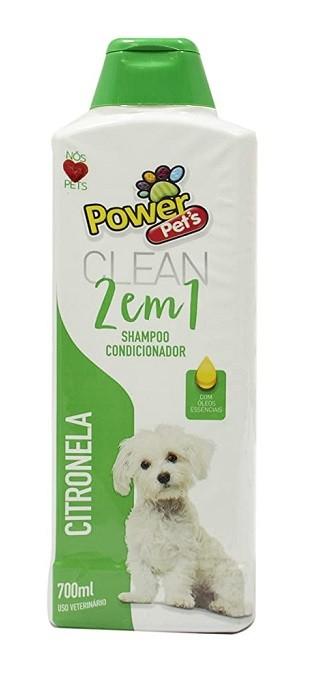Shampoo e Condicionar 2 em 1 Citronela Pets para Cães e Gatos 700ml