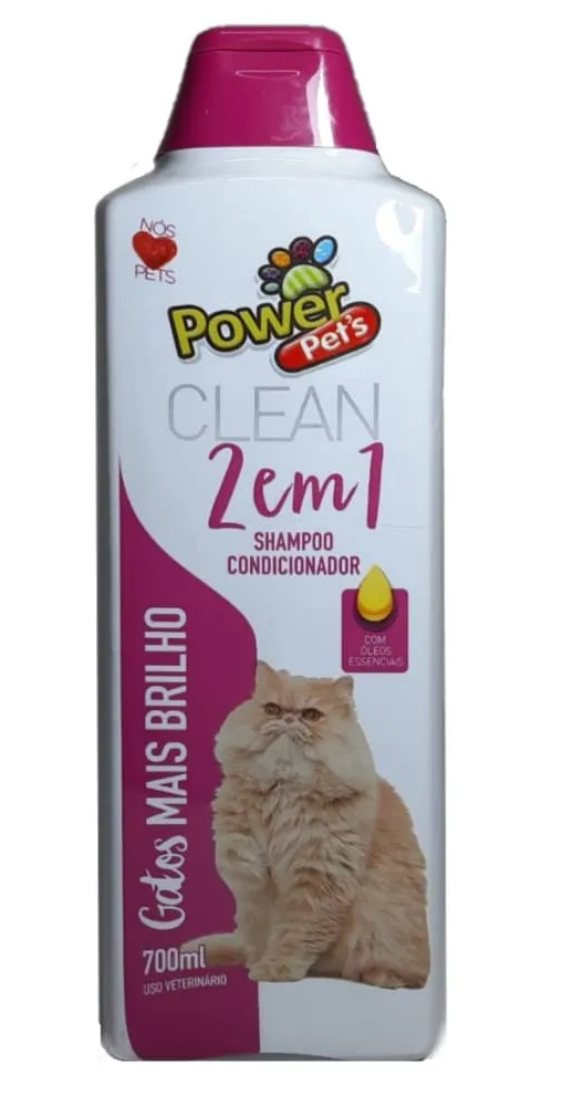 Shampoo Para Gatos Mais Brilho Power Pets 700ml