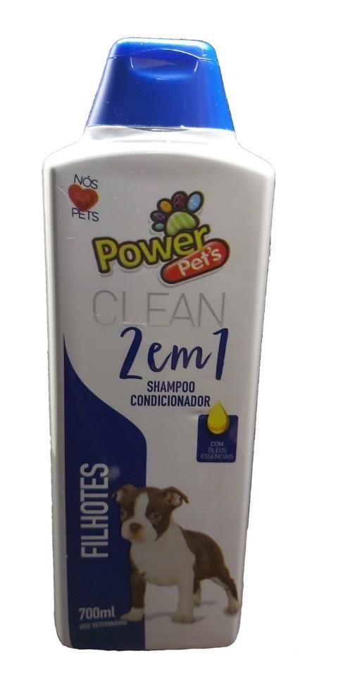 Shampoo e Condicionar 2 em 1 Filhotes Power Pets para Cães e Gatos 700ml