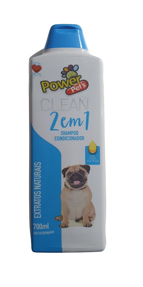 Shampoo PowerPets Extrato Naturais 700ml