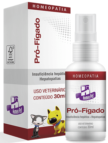 Sistema de Terapia Homepática Homeo Pet Pró-Fígado 30ml