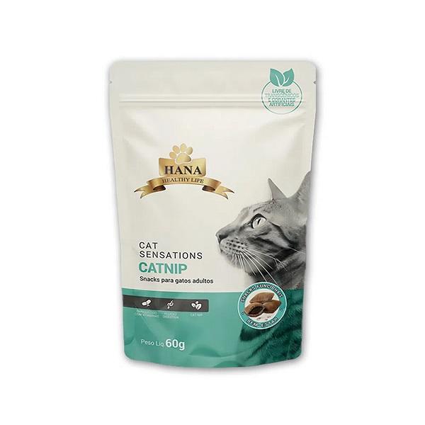 Snack Hana Nuggets Cat Sensations para Gatos Sabor Catnip 60g