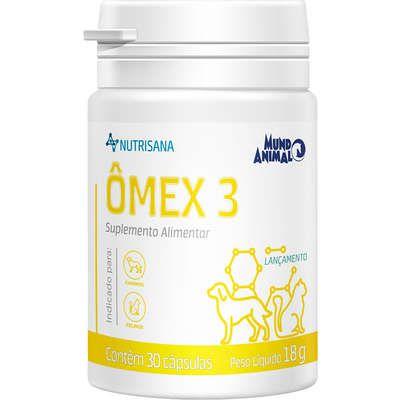 Suplemento Alimentar Mundo Animal Nutrisana Ômex 3 para Cães e Gatos  30 Capsulas