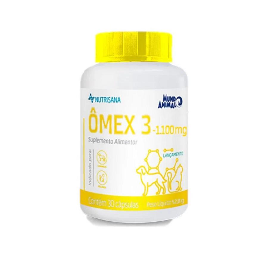 Suplemento Alimentar Nutrisana Ômex 3 1100mg para Cães e Gatos 30 Capsulas