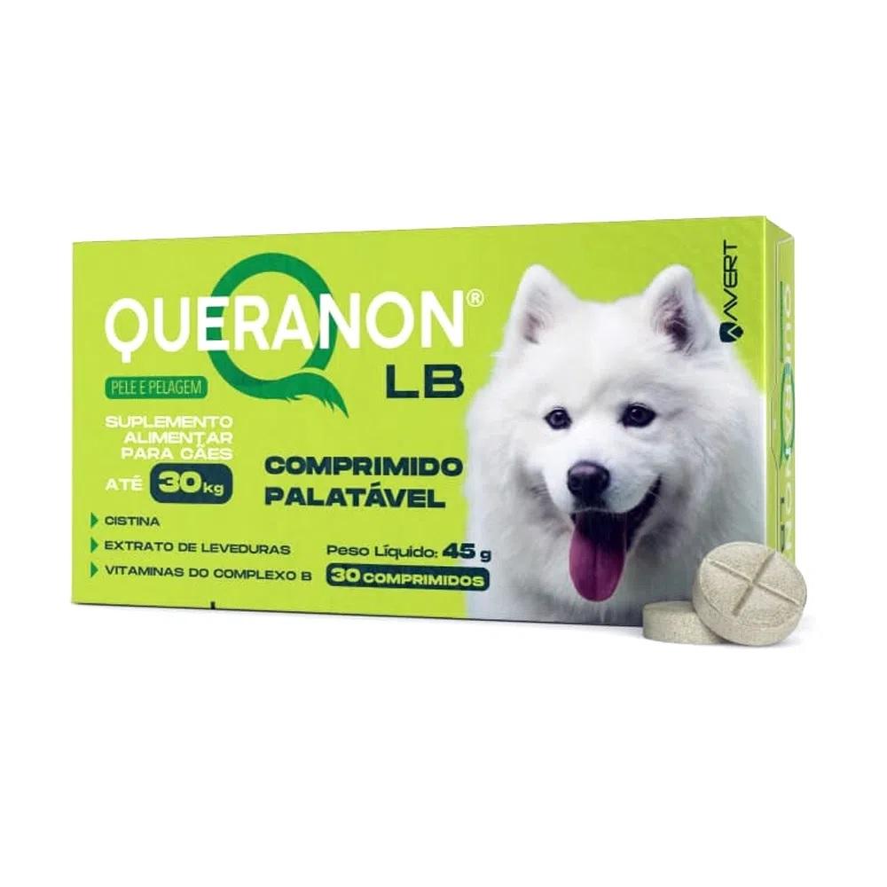 Suplemento Alimentar Queranon para Cães Raças Grandes até 30kg 30 Comprimidos
