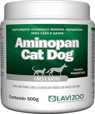 Suplemento Aminopan Cat & Dog 500g para Cães e Gatos
