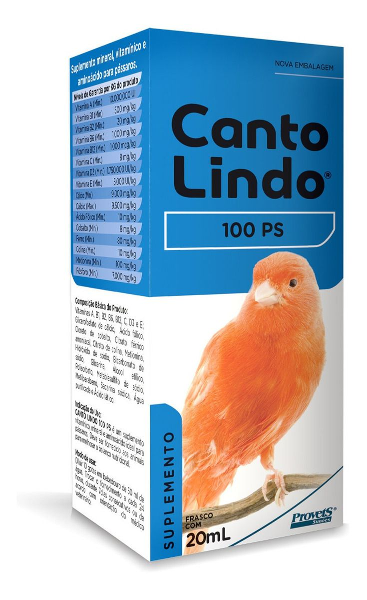 CantoLindo Suplemento 100 PS 20ml Provets