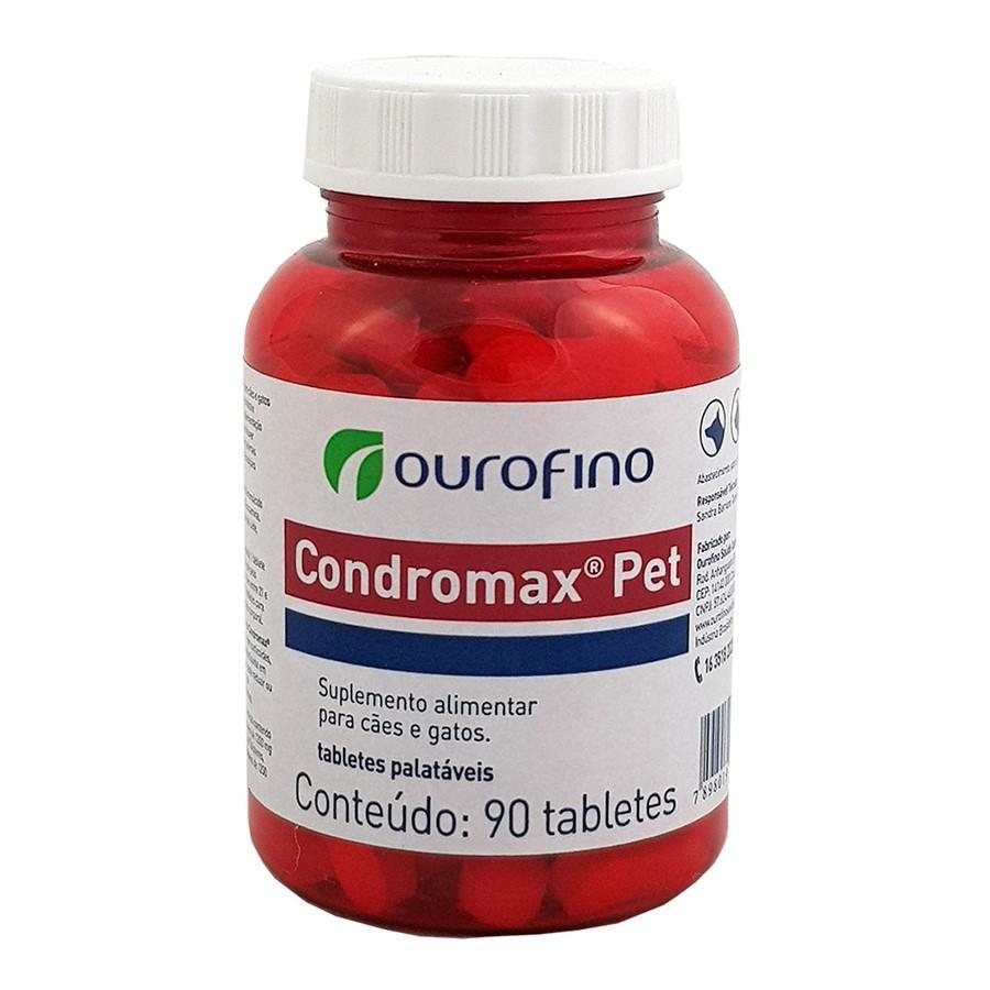 Suplemento Alimentar Condromax Pet para Cães e Gatos 90 Comprimidos